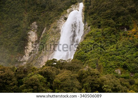 Milford Sound, South Island, New Zealand - stock photo