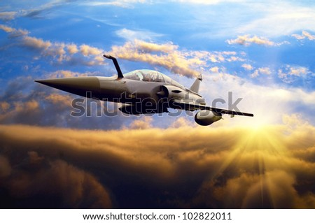 Military airplane - stock photo