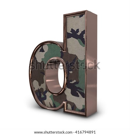 military Alphabets letter and numbers . 3D illustration, 3D Render