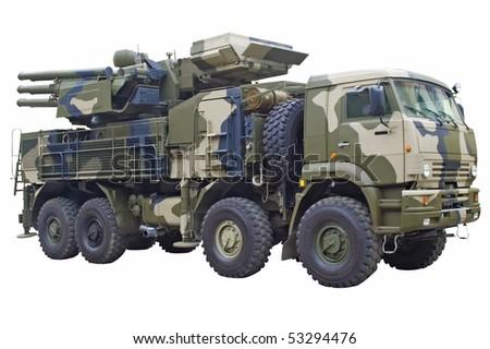 Military armed machine - stock photo