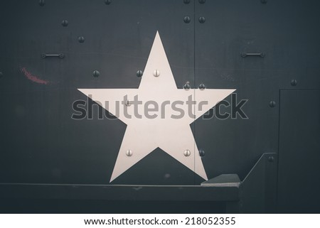 Military army star - stock photo