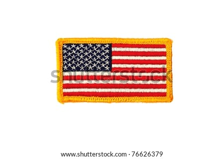 Military army US flag patch - stock photo