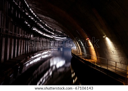 military base since the USSR, tonel Balaklava for submarines - stock photo