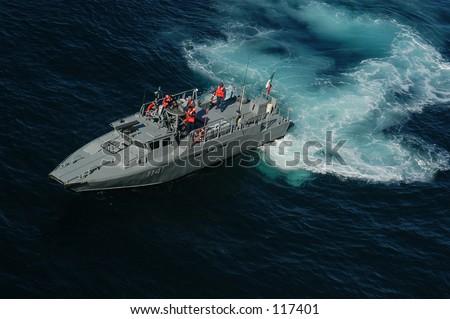 Military boat - stock photo