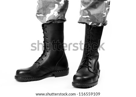 Military Boots uk Military Boots And Pants on a