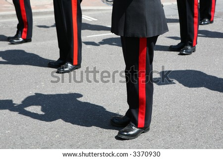 Military brass marching band