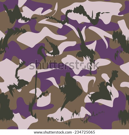 Military camouflage purple background of soldier