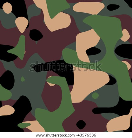 Military camouflage texture  in green and brown shades - stock photo