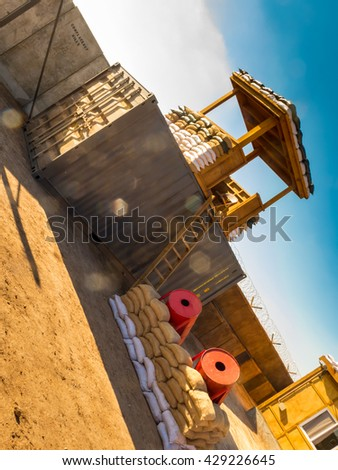Military camp somewhere in the world - stock photo