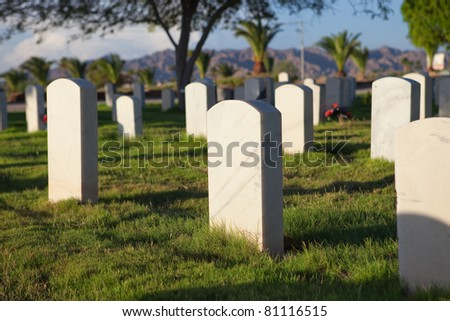 Military Cemetery at sunset