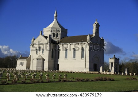 "Military Cemetery of ""our Dame de Lorette"", North in France"