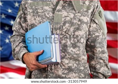 Military Education. - stock photo
