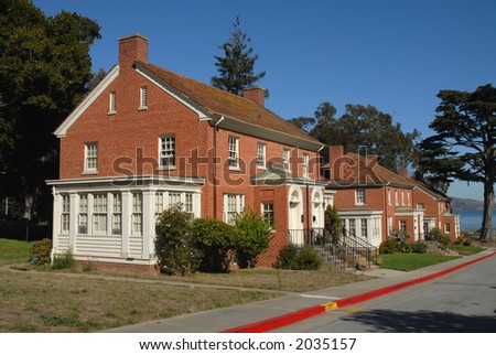 Military housing, Presidio, San Francisco, California