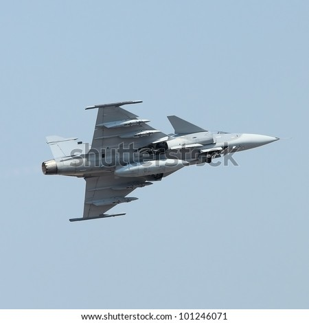 military jet on the air - stock photo