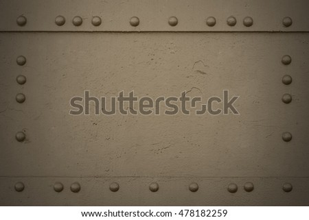 Military khaki background. Navy armored texture with copy space