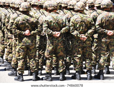 Military men - stock photo