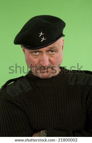 military middle age man over green screen