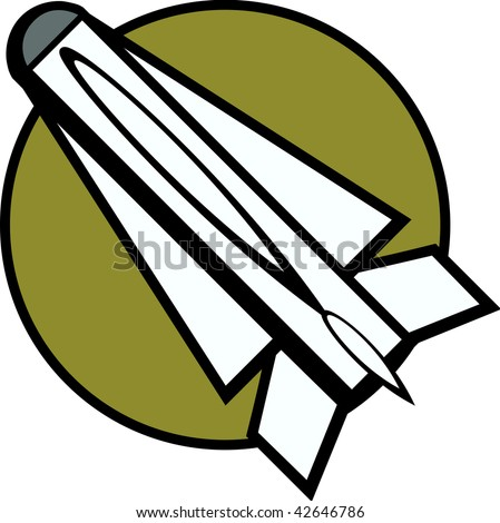 military missile - stock photo