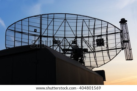 Military mobile radar station - stock photo