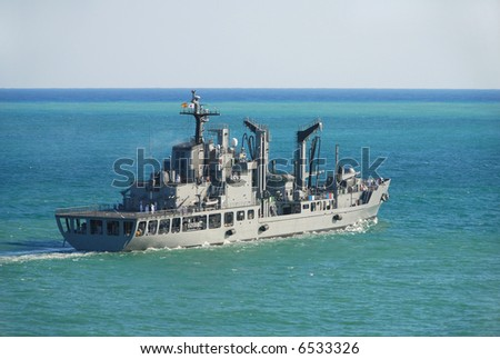 Military navy vessel - stock photo
