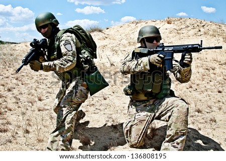 military operation - stock photo