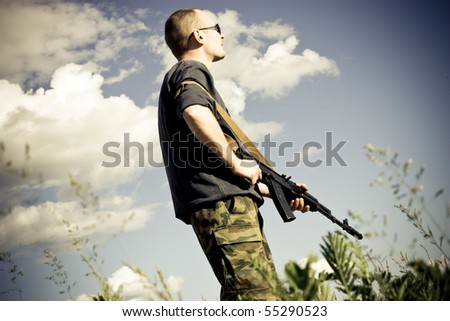 military person - stock photo