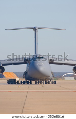 Military plane of transportation of materials and people
