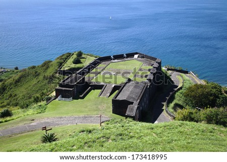 Military post in Brimstone Hill Fortress, Saint Kitts and Nevis