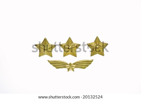 military stars and wings - stock photo
