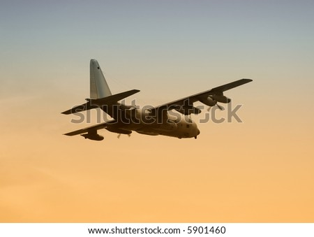 Military transport airplane