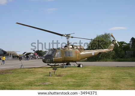 Military transport helicopter - stock photo
