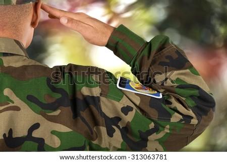 Military Veteran. - stock photo