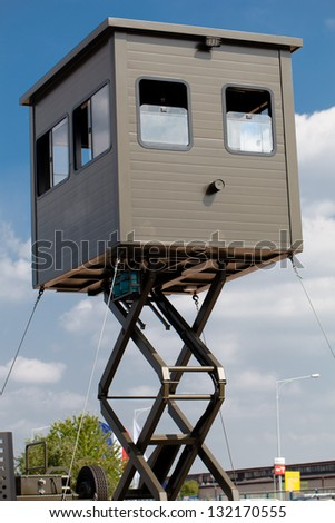 military watch tower - stock photo