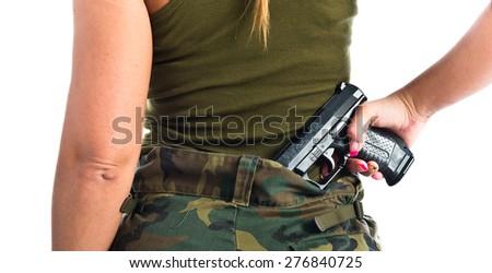 military woman - stock photo