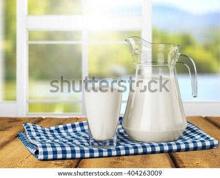 Milk. - stock photo