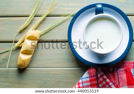 milk and stick of confectionery