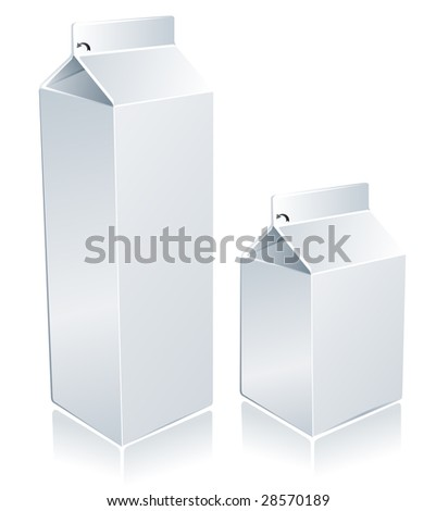 Milk blank package. (also available vector version of this image in our gallery) - stock photo