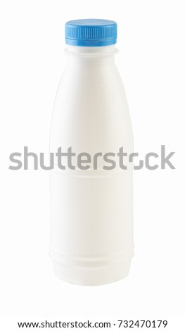 Milk bottle isolated ,clipping path.