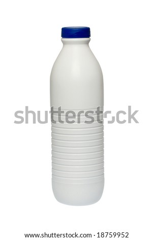 milk bottle with clipping path for easy cut out
