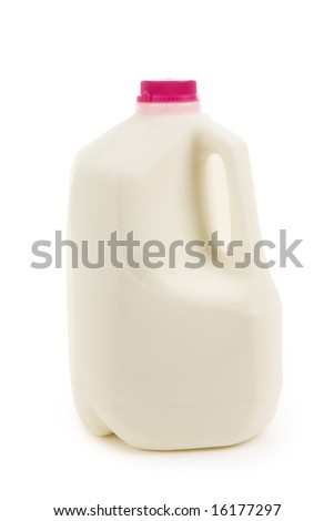 Milk Bottle with white background