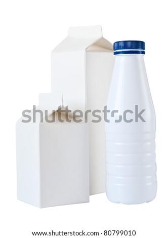 Milk Box per half liter, isolated on white background - stock photo