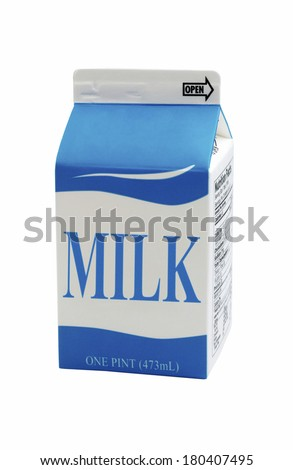 Milk carton - stock photo