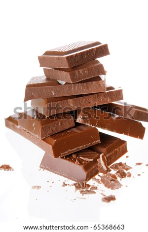 milk chocolate - stock photo