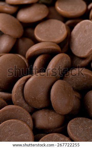 milk chocolate chips - stock photo