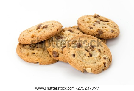 milk chocolate toffee almond cookies - stock photo