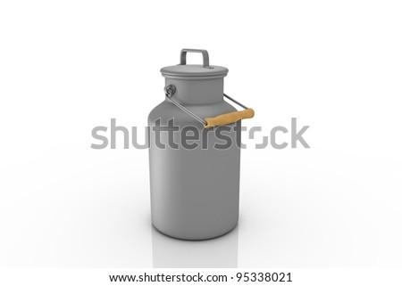 Milk churn - stock photo