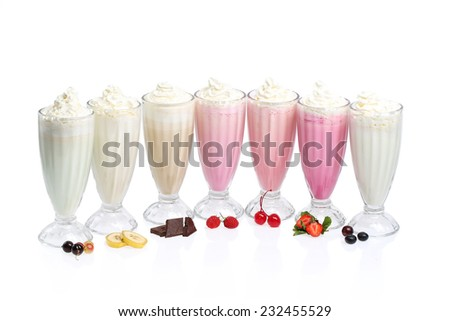 milk cocktails - stock photo