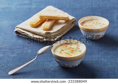 milk cream - stock photo