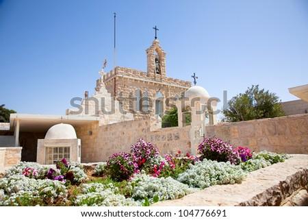 Milk Grotto church in Bethlehem, Palestine, Israel - stock photo