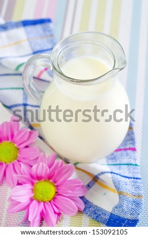 milk in jug - stock photo